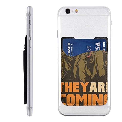 Ze komen eraan! Telefoonkaarthouder Stick op mobiele telefoon portemonnee voor creditcard, visitekaart-ID en sleutels, telefoonvak voor alle telefoons