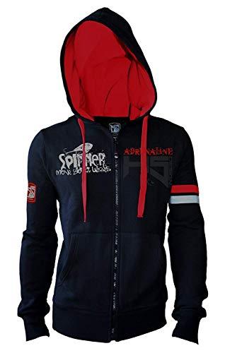 HOTSPOT DESIGN Kapuzensweater Spinning Adrenaline, Durchgehender Reißverschluss, Gr. XL, SW-SPIN03XL