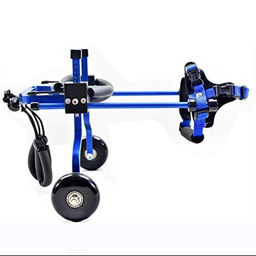 FEANG Silla de Ruedas Ajustable para Perros/Paseo asistido por Perros discapacitados/Coche Deportivo con Patas traseras Asiento de Coche para Mascotas (Color: Azul, tamaño: XS)