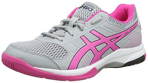 Asics Gel-Rocket 8, Zapatos de Voleibol para Mujer, Gris (Mid Grey/Pink GLO 020), 40 EU