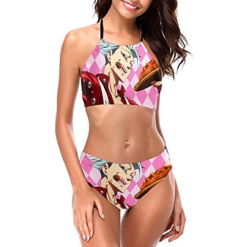 Sev-en D-ea-dly S-in-s Eliz-ab-ETH Damen-Bikini-Set, Sommer, Badeanzug, rückenfrei, 2-teilig, gepolstert Gr. S, Die S-e-ven D-ea-dly S-in-s
