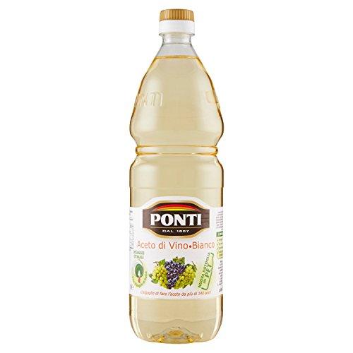 Ponti Aceto di Vino Bianco Acidità 6%, 1000ml