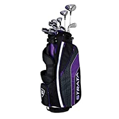 Strata ultimate women's set is designed for ultimate distance and ultimate performance for women with modernized golf technology to cover you from tee to green The complete golf set includes: Driver, 3 Wood, 4 & 5 Hybrid, 6   9 Iron, Pitching Wedge &...