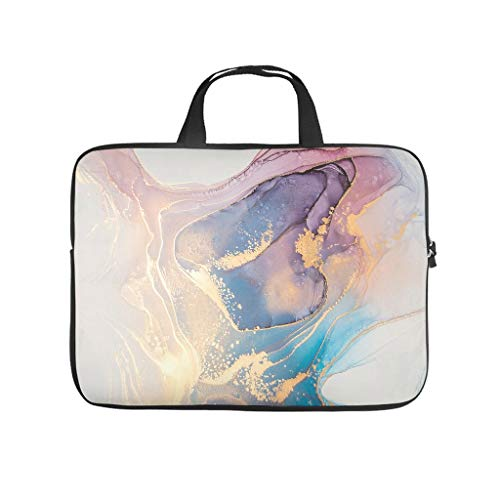 Standard Marble Texture Ink Laptop Bags Modern Waterproof - Modern Style Tablet Cases Suitable for Business Trip