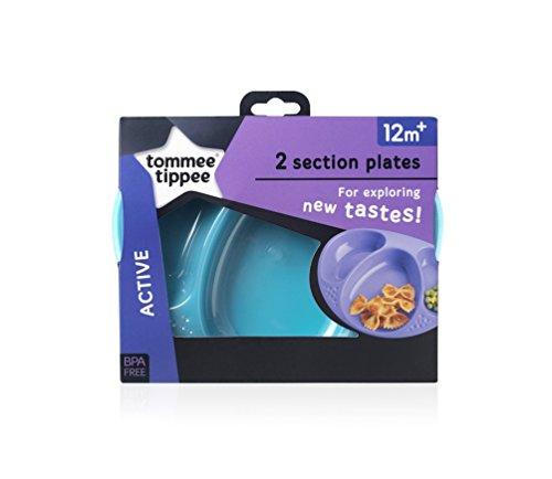 Tommee Tippee Explora–Juego de platos infantiles con compartimentos azul Turquiose