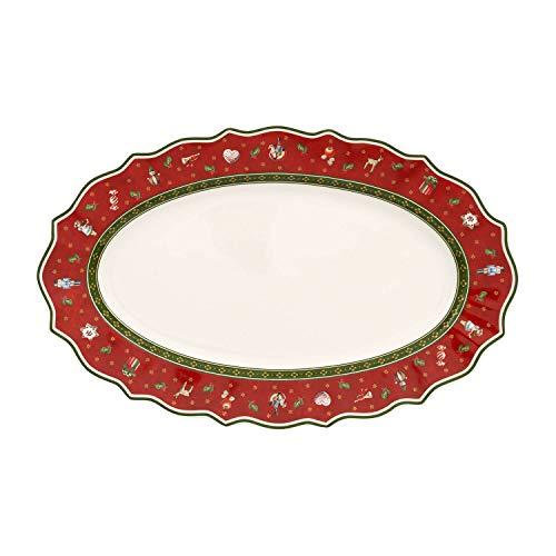 Villeroy & Boch Toy's Delight Piatti da Portata (M), Ovale, Porcellana, Rosso, 38x23.5x0.1 cm