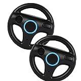 Hainice Rennrad Rennen Gaming Stühle Lenkrad Wii Controller Spiel Rad Kompatibel mit Wii Remote Game Black 2 stücke