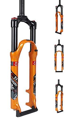 QMZDXH Horquilla de Bicicleta MTB 26 27.5 29 Inch Ultraligero Control de Hombro Aluminum Alloy Mountain Bike Horquilla de Suspensión