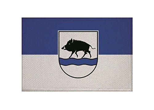 U24 Aufnäher Eberbach (Baden) Fahne Flagge Aufbügler Patch 9 x 6 cm