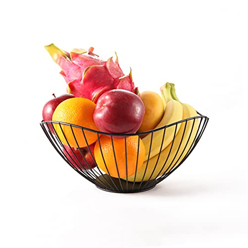 Cesto per frutta in metallo, porta frutta da tavolo, porta frutta moderni, centrotavola moderno...
