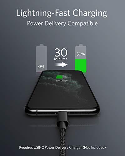 Anker USB C auf Lightning Kabel, New Nylon USB-C auf Lightning Ladekabel, 1 Meter lang, MFi-Zertifiziert, für iPhone SE/11 Pro/X/XS/XR / 8 Plus/AirPods Pro, Unterstützt Power Delivery