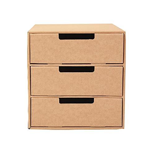WJQ Papier fichier Armoire Bureau Rangement boîte étudiant fichier Armoire Stockage Consolidation boîte Multi-Couche tiroir Cadeau comptoir boîte pour Bureau Famille Couleur en Cuir