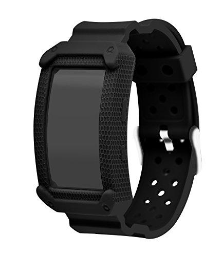 Samsung Gear Fit2, cinturino in silicone per Smartwatch, sostituibile, con fibbia in acciaio inox, per lo sport, per Smartwatch Samsung Gear Fit2