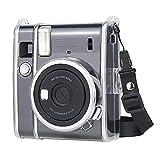 Funda protectora transparente para Fujifilm Instax Mini 40, cubierta rígida de PP con correa de hombro extraíble para Fujifilm Instax Mini 40