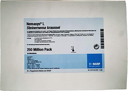 Nemasys® L BASF SK Nematoden 250 Mio. (500m²) gegen Dickmaulrüssler (Steinernema kraussei) - wirksam ab 5°C - Profipackung
