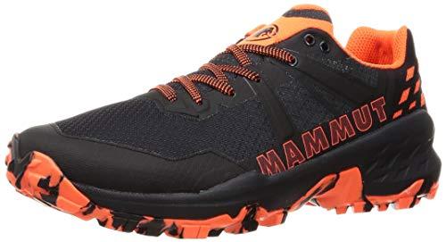 Mammut Herren Sertig II Low Men Traillaufschuh, Black-Vibrant orange, 44 EU