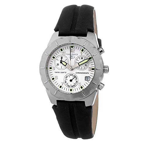Reloj TIME FORCE de acero inoxidable blanco negro unisex – hombres y mujeres