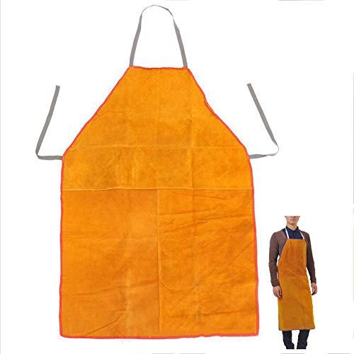 LAIABOR Flammhemmende Schweißerschürze Aus Leder Schürze Arbeitskleidung Schutzkledung Beim Schweißen 70 * 100Cm 28 Inch X 40 Inch,Gelb