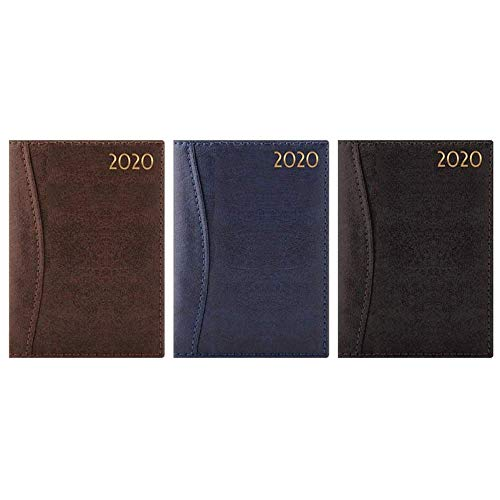 2020 A5 Week to View Diary - WTV A5 Planner Hardback Cover Casebound Assorted Colors