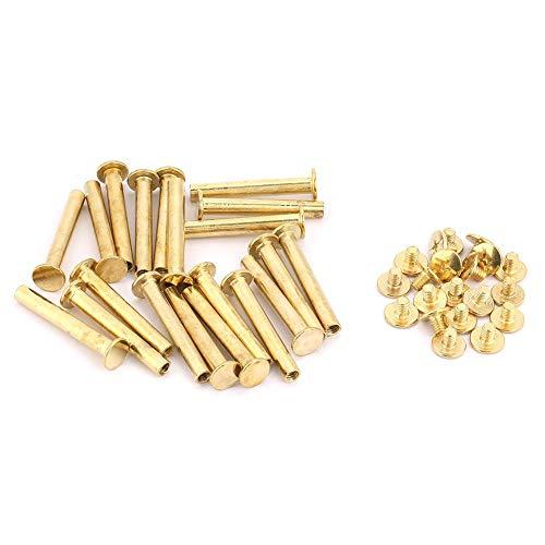 M5 klinknagels schroevenset ijzeren gecoat koper platte kop duurzaam robuust om te knutselen M5*40(20pcs)