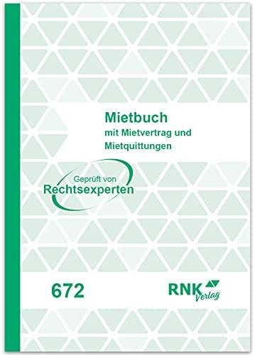 RNK 672Diverse formularios y Impresiones mietvertrag Cuaderno 17x 12cm