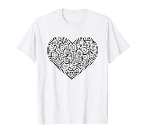 Kinderherz zum Ausmalen / Ausmalen mit Stoffstiften T-Shirt