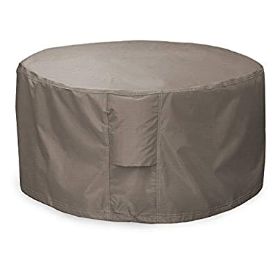 """Leader Accessories Full Coverage Round Fire Pit/Bistro Table Cover Heavy Duty & Waterproof Fabric (36"""" L x 36"""" W x 22"""" H)"""