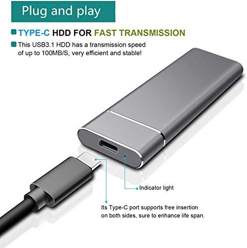 Disco duro externo de 2 TB, disco duro portátil externo para PC, portátil y Mac (2 TB, GOLD) miniatura