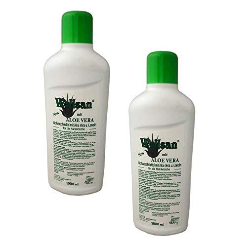 2x 1000ml WOLLSAN Wollwaschmittel mit Lanolin & Aloe Vera | Wollschampoo | Waschmittel | Wollreiniger | Fellwaschmittel