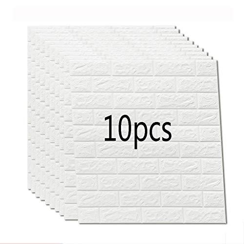 buenos comparativa K & F-qianzhi 10PCS 70X77cm papel pintado de ladrillo blanco, panel de pared de ladrillo 3D espuma de PE… y opiniones de 2021