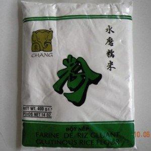 Harina de arroz glutinosa blanca y pegajosa, postre de arroz Mochi Iingredientes, 400 g