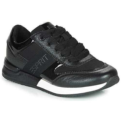 Esprit Damen 080EK1W322 Sneaker, 001/BLACK, 41 M EU