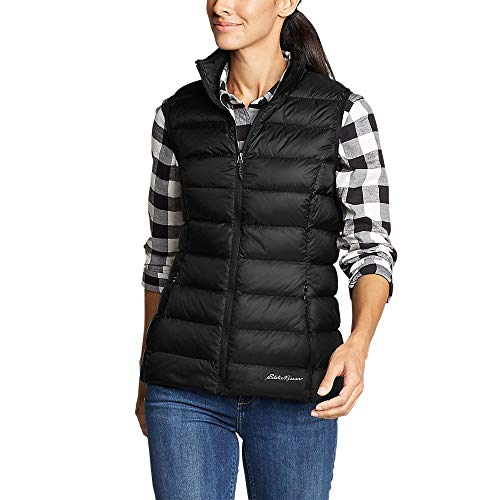 Eddie Bauer Women's CirrusLite Down Vest, Black Regular L