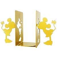 MsFun 本立てミッキーとミニーブックエンド| 漫画のマウスブックは、ホームブックスタンドの装飾を終了します。 重い本のブックエンド| 装飾的で創造的なブックエンドの本棚(ゴールド)