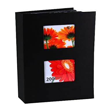Kiera Grace Photo Album, Holds 200 4-Inch by 6-Inch Photos, Black