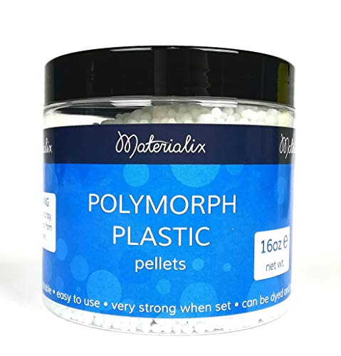 PP OPOUNT 340g Heat Moldable Plastic Pellets Polymorph Plastic Beads for Crafting Art Projects and Repairing