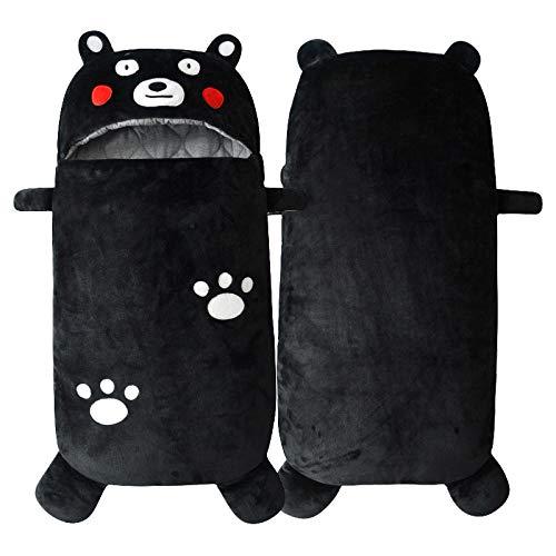 Babyschlafsack verdickt Neugeborene Steppdecke Winterschlafsack 95cm0-36 Monate Baby-Black bear_95cm baby schlafsack winter