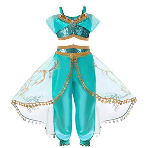 Aladdin Jasmin set voor kinderen, prinses, cospaly, fancy dress, cosplay, meisje, Abiti Compleanno Princess dresset, kinderen