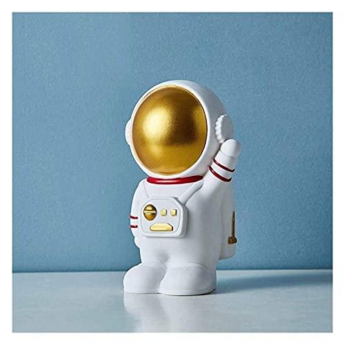 Chtom Hucha para adultos estilo astronauta hucha para ahorrar dinero para niños Banco de monedas para niñas y niños, resistente a la caída, regalo para niños, bancos de dinero blanco para niños