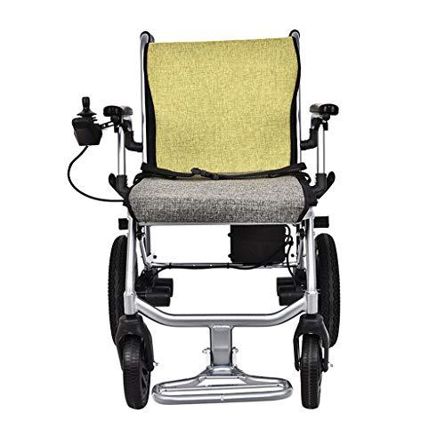 ZYYNET Elektrischer Rollstuhl/Faltbar 14kg Ultraleicht/Mit 360° Joystick/44cm Breite Sitzfläche/Leistungsstarke und leise 2x150 Watt Motoren/für Personen bis 100kg/Ausdauer 20km, Dual Control