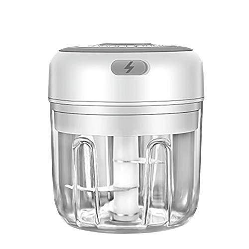 Prensa eléctrica de ajos, herramienta de ajo, cortador de ajos, jengibre, Smasher Squeezer Slicer, prensador manual de jengibre, pelador de ajos (D, 250 ml)