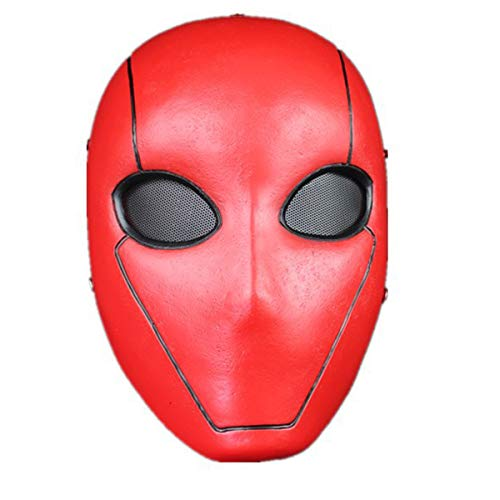 UTRH Red Hood Mask Deluxe Movie Resin Helmet Full Face Halloween Cosplay Costume Party Props Adult