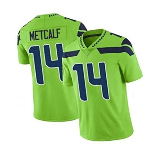 WHUI # 14 Metcalf Football Jersey, Camiseta de Entrenamiento de fútbol Americano Transpirable, Ropa Deportiva Unisex Casual Green-L