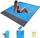 Cosswe Beach Blanket, Sand Free Beach Mat 200 * 140cm Waterproof Sand Proof