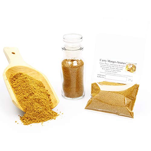 Curry Mango Ananas, Currypulver, Curry Gewürz, Curry Gewürzmischung, Currygewürz, Curry-Vegan, asiatische Gewürze, Mangopulver, 25g