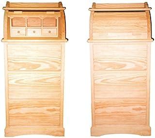 Bureau. Mueble persiana con cajones. En Pino en Crudo para Pintar. Medidas (Ancho/Fondo/Alto): 55 * 45 * 120 cms.