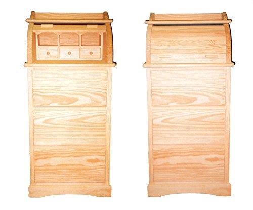 Bureau. Mueble persiana con cajones. En Pino en Crudo, para Pintar. Medidas (Ancho/Fondo/Alto): 55 * 45 * 120 cms.