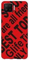 スマホケース OPPO A73 オッポ エーナナサン 対応 楽天モバイル ハード カバー ケース ギフト Logo(RED)