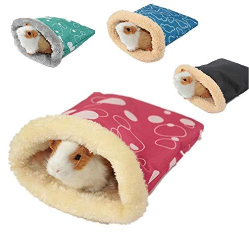 Ruluti Warm 1pc Hamster Schlafsack Bett Weiche Chinchilla Meerschweinchen Ratte Eichhörnchen Nest Kleintiere Käfig Kleintiere Schlafbedarf, Zufällige Farbe