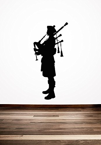 Geiqianjiumai Scottish Piper Creative Schotse Engelse stijl Home slaapkamer frisse kunst decoratieve muurschildering sticker